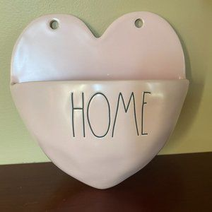 Rae Dunn Accents - RAE DUNN Ceramic HOME Wall POCKET Planter PINK New